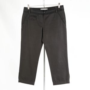 DIANE von FURSTENBERG: Black Cropped Pants – 8